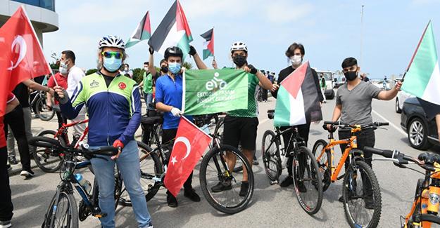 Samsun 'Da Pedallar Kudüs İçin Döndü