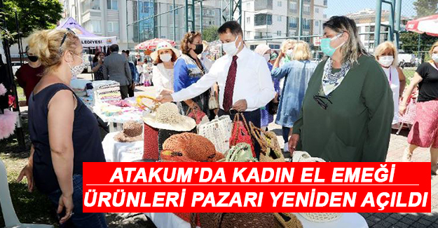 """Atakum'da """"Kadın El Emeği Ürünleri Pazarı"""" yeniden açıldı"""