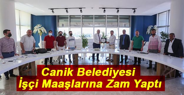 Canik Belediyesi İşçi Maaşlarına Zam Yaptı