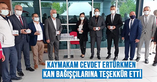 Kaymakam Cevdet Ertürkmen Kan Bağışçılarına Teşekkür Etti