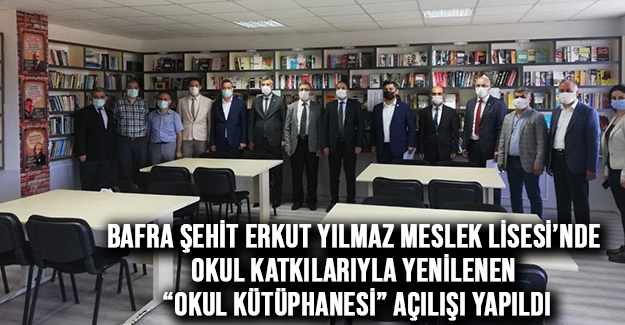"""Kaymakam Cevdet Ertürkmen Okul Kütüphanesi"""" Açılışını Yaptı"""