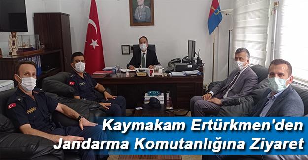 Kaymakam Ertürkmen'den Jandarma Komutanlığına Ziyaret