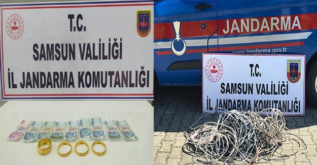 Samsun'da  3 hırsızlık  şüphesine 5 gözaltı