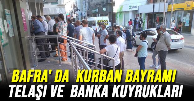 Bafra' Da Kurban Bayramı Telaşı Ve Banka Kuyrukları