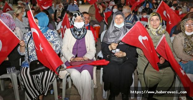 Bafra`da 15 Temmuz etkinlikleri yapıldı.