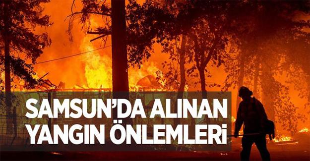 Samsun'da Alınan Yangın Önlemleri