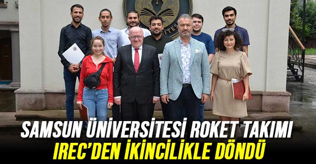 Samsun Üniversitesi Roket Takımı IREC'den İkincilikle Döndü