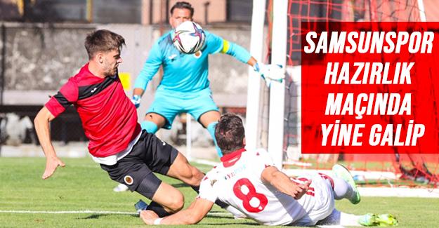 Samsunspor hazırlık maçında 1-0 galip geldi