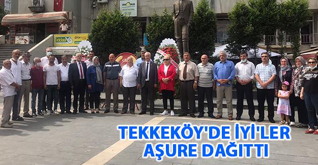 Tekkeköy'de İyi'ler Aşure Dağıttı