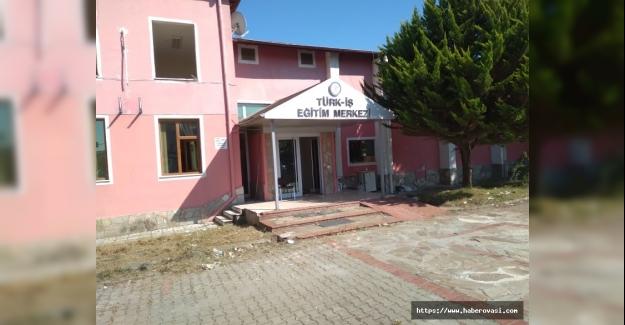 Türk İş Eğitim Merkezinde yıkım başladı