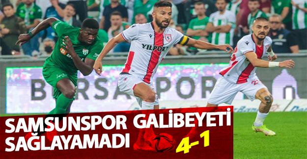 Samsunspor'dan 4-1lik Mağlubiyet