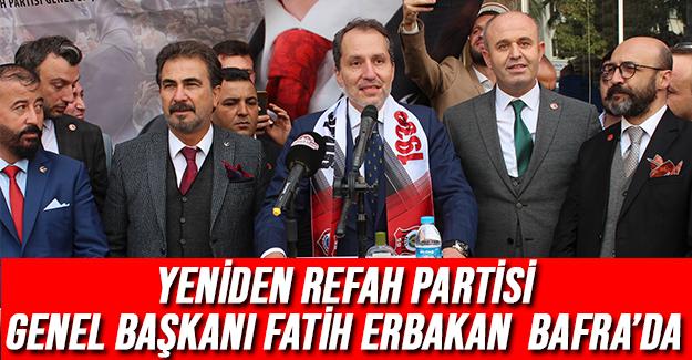 Yeniden Refah Partisi Genel Başkanı Erbakan Bafra'da