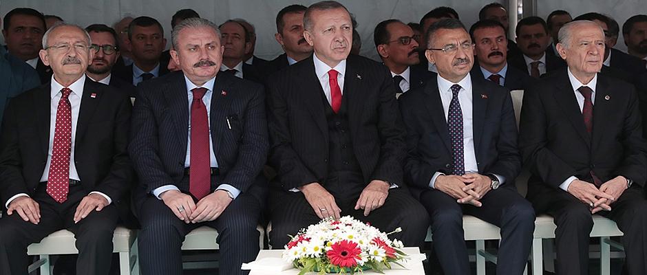 Cumhurbaşkanı Erdoğan 100. Yıl Törenlerinde