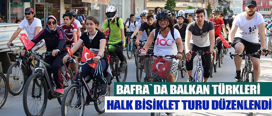 Bafra`da Halk Bisiklet Turu düzenlendi.