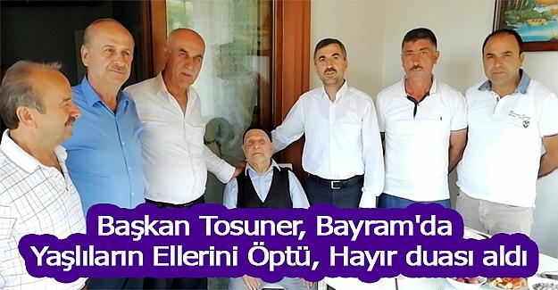 Başkan Tosuner, Bayram'da gezilerde bulundu