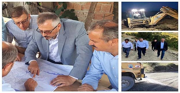 Bafra Belediyesi'nde Rota Gece Gündüz Hizmet