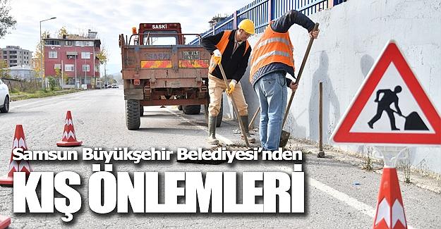Samsun`da Yağmur suyu hatları temizleniyor