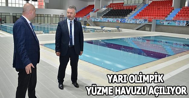 19 Mayıs'ta Yarı Olimpik Yüzme Havuzu Açılıyor
