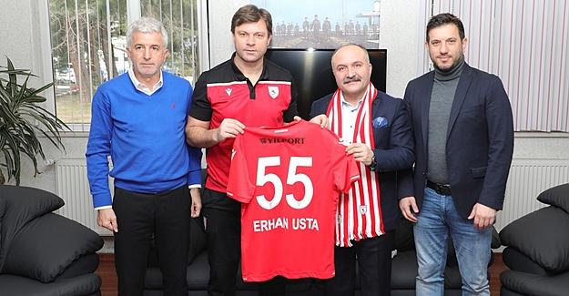 Erhan Usta, Ertuğrul Sağlam'ı Ziyaret Etti