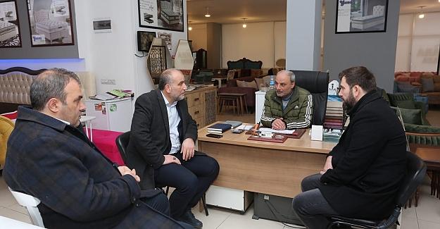 Başkan Sandıkçı esnaf ziyaretinde