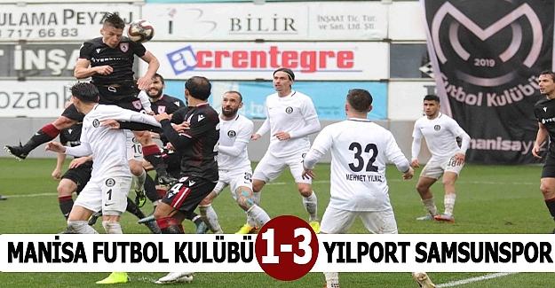 Samsunspor Manisa`dan  3 puanı 3 golle Aldı