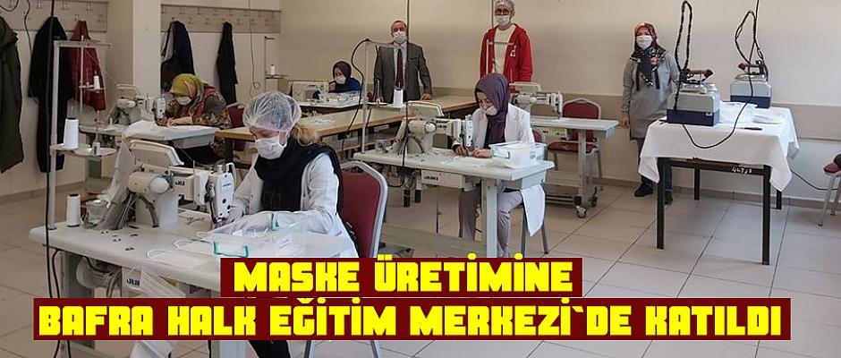Maske Üretimine Bafra Halk Eğitim Merkezi De Katıldı