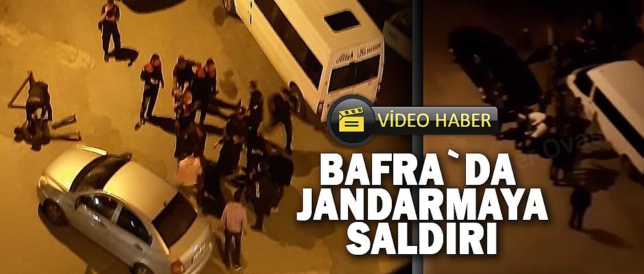 Bafra`da jandarmaya saldırı