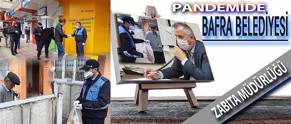 Pandemide Bafra Belediyesi  Zabıta Müdürlüğü Faaliyetleri