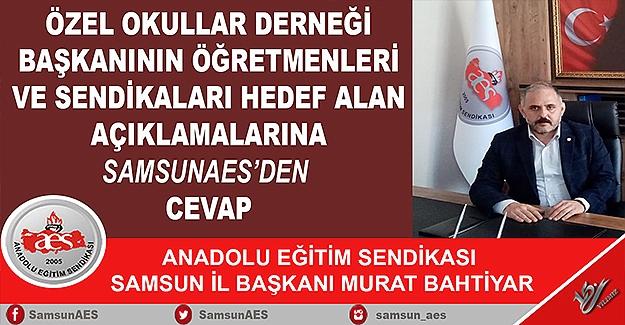 AES İl Başkanı Murat BAHTİYAR'ın Yazılı Basın Açıklaması