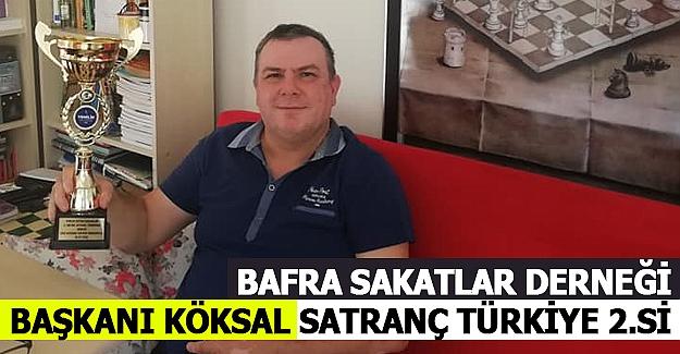 Bafra Sakatlar Derneği Başkanı Köksal Satranç Türkiye 2.Si