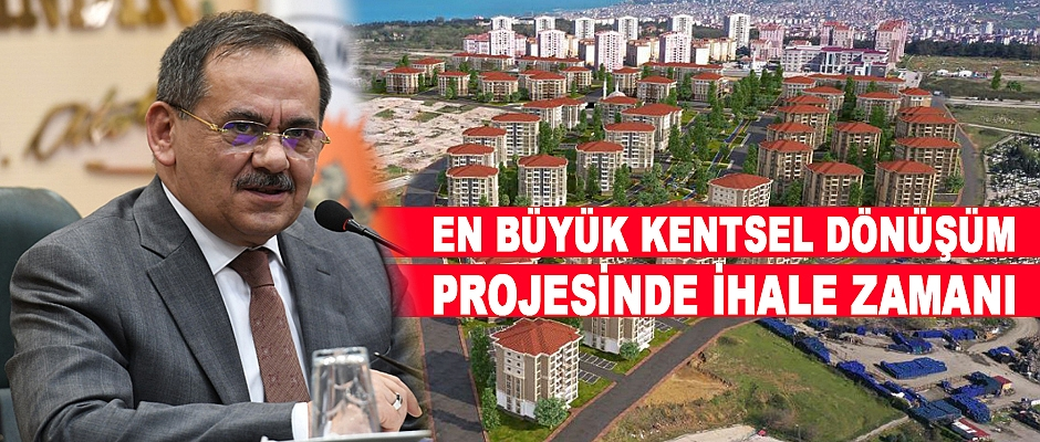 Samsun'un en büyük kentsel dönüşüm projesi başlıyor.