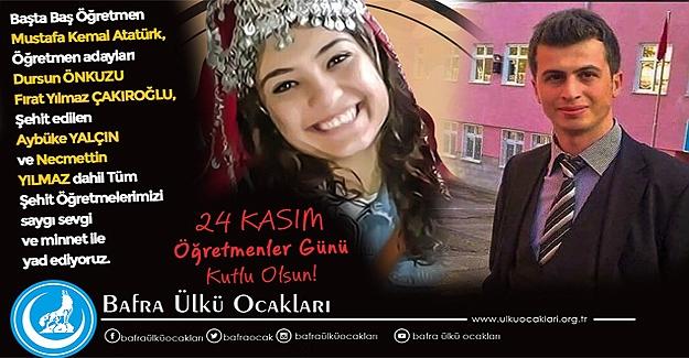 24 Kasım Öğretmenler Günü Türk Öğretmeninin şeref günüdür.