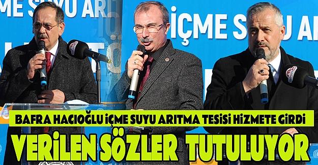 Hacıoğlu İçme Suyu Arıtma Tesisi Hizmete Girdi.