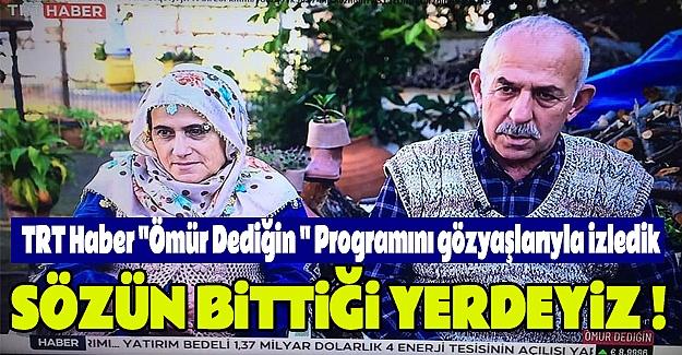 """TRT Haber """"Ömür Dediğin """" Programı On Dokuz Mayıs'ta"""