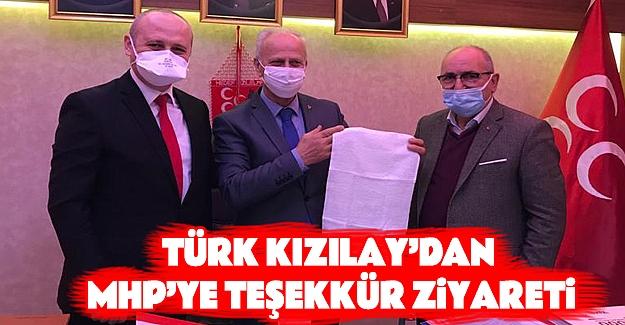 TÜRK KIZILAY'dan MHP'ye Teşekkür Ziyareti