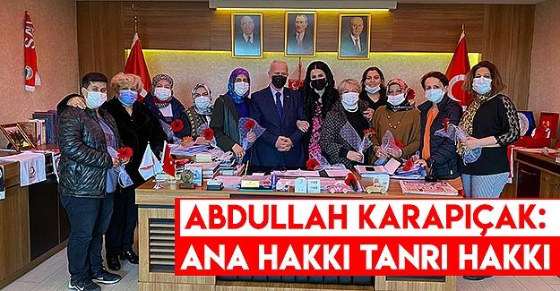 Abdullah Karapıçak 8 Mart Dünya Kadınlar Günü mesajı