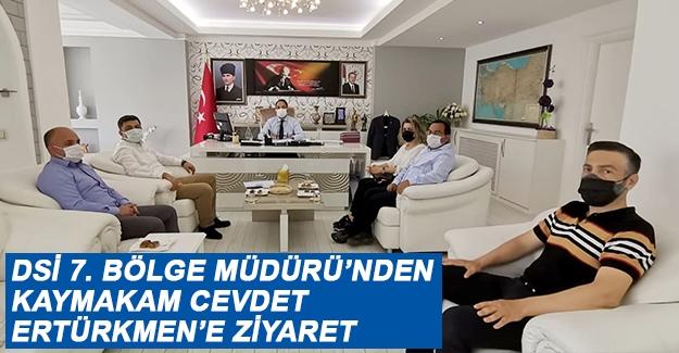 Dsi 7. Bölge Müdürü'nden Kaymakam Cevdet Ertürkmen'e ziyaret