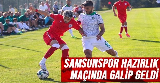 Samsunspor hazırlık maçında galip geldi