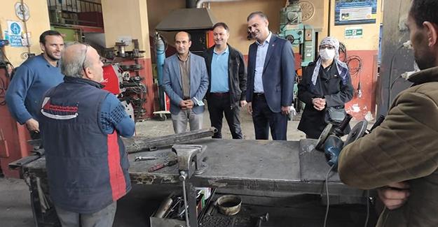 CHP Samsun İl Başkanlığı Kavakta esnafla buluştu.