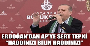 ERDOĞAN'DAN AP'YE SERT TEPKİ