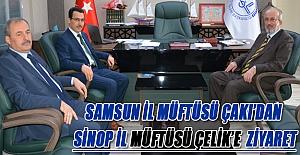 Samsun İl Müftüsü Çakı'dan  Sinop İl Müftüsü Çelik'e  Ziyaret