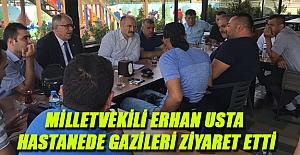 Milletvekili Usta'dan Gazilere Ziyaret