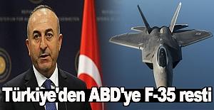 Türkiye'den ABD'ye F-35 resti