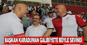 Samsunspor galibiyetine başkanlar sevindi