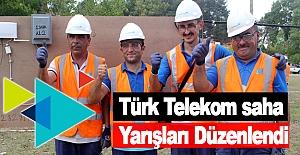 Türk Telekom saha yarışları düzenlendi