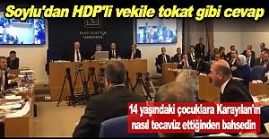 Soylu'dan HDP'li vekile tokat gibi cevap
