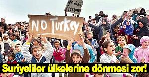 Suriyeliler ülkelerine dönmesi zor!