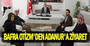 Bafra otizm Kaymakam Ahmet Adanur'a ziyaret etti