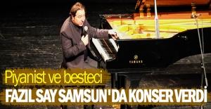 Fazıl Say Samsun'da konser verdi