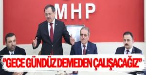 Mustafa Demir Kavak MHP ilçe başkanlığını ziyaret etti